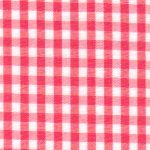 Watermelon Gingham Fabric - 1/8"
