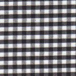 Black Gingham Fabric: 1/8"