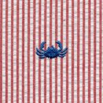 Crab Seersucker Fabric | Embroidered Seersucker Fabric
