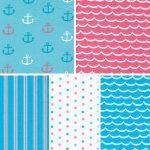Nautical Themed Fabric - Coordinating Prints
