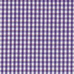 "Grape Purple Gingham Fabric: 1/16"" Check 