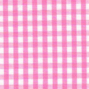 "Hot Pink Gingham Fabric - 1/8"" Check 