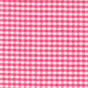 "Raspberry Gingham Fabric - 1/16"" - Cotton Gingham Fabric"
