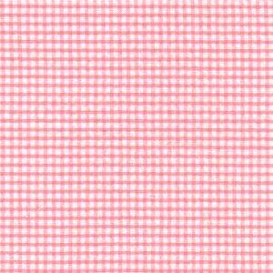 Coral Seersucker Fabric | 100% Cotton Seersucker Fabric - Coral Check