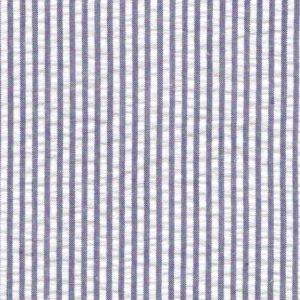 Navy Seersucker Fabric | Striped Seersucker Fabric - Navy