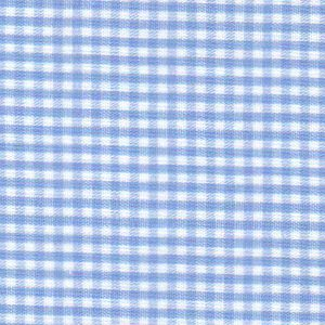"""Sky Blue Gingham Fabric: 1/16"""" Gingham 