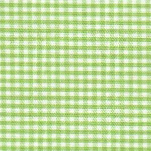 "Sprout Green Gingham Fabric: 1/16"" Check 