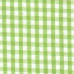 """Sprout Green Gingham Fabric: 1/8"""" 