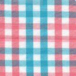 Coral and Turquoise Fabric | Gingham Check Fabric - T91